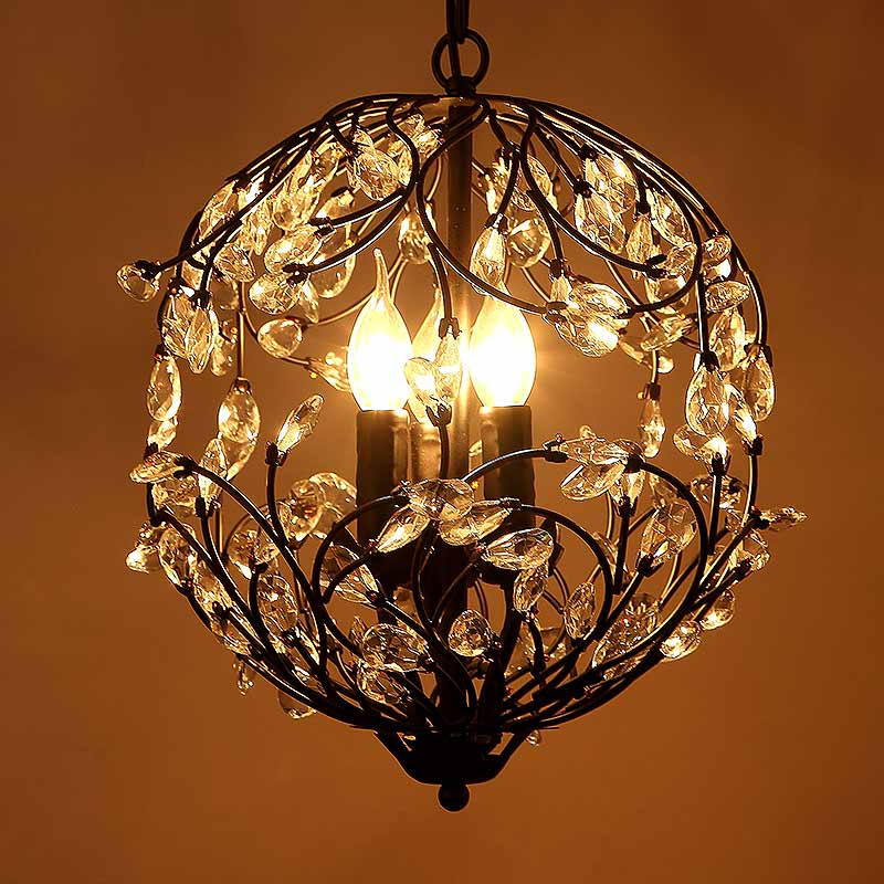 Modern Crystal Pendant Lights Living Room Kitchen Dining Room Lamp Decor Home Lighting Indoor Fixtures Black Metal 220V metal pendant lights avize luminaire e27 220v for decor home lighting pendant lamp lustre moderne living room dining lamp