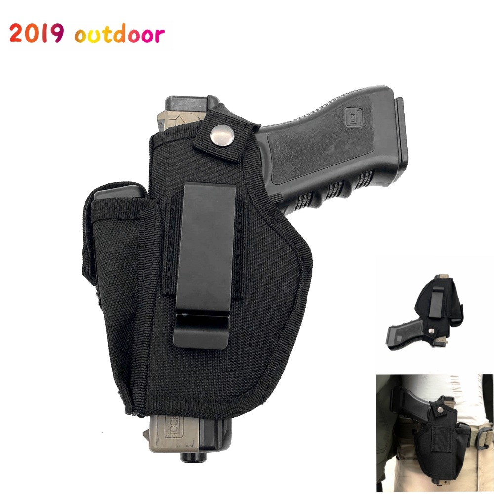 Tactical Waist Belt Holster Right Left Handed Cuttable (Concealed) Pistol Carry Case Pouch Pistols Clip Case