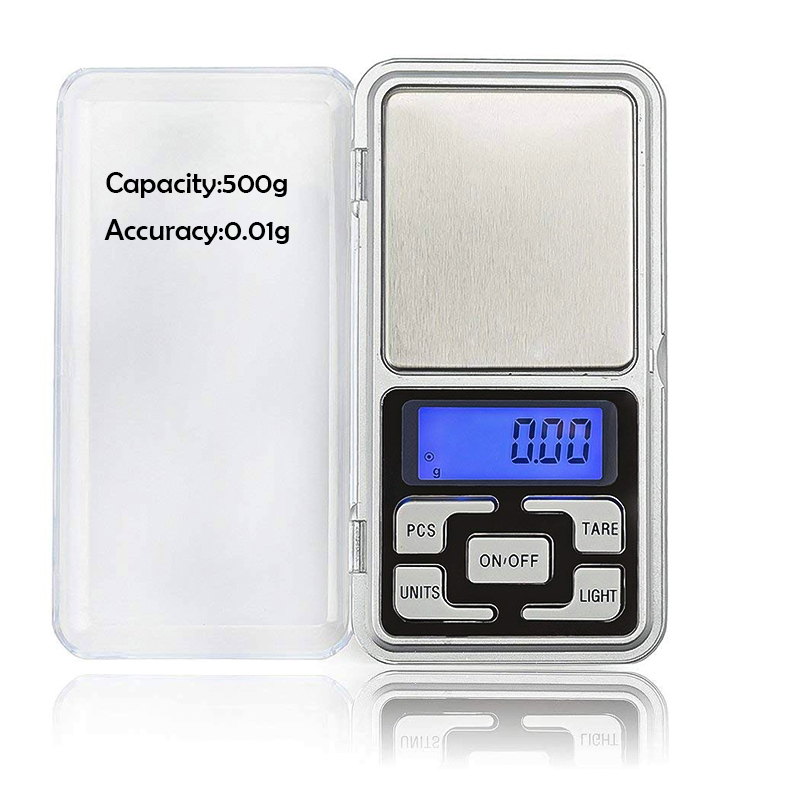 mini pocket scale ultra thin digital scale portable high accuracy kitchen nutrition scale 0.01g-500g for food,jewelry,coffee,tea