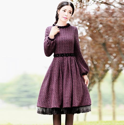 Purple Winter Dresses