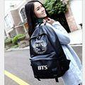 Coreia Do Hot senhora mochila mulheres saco BTS Jackson PU Schoolbag Mochilas