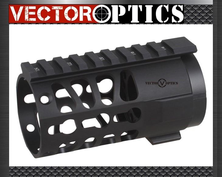 Vector Optics Tactical KEYMOD 4 Inch Free Float Handguard Picatinny Rail Mount System Fit Real AR Pistol