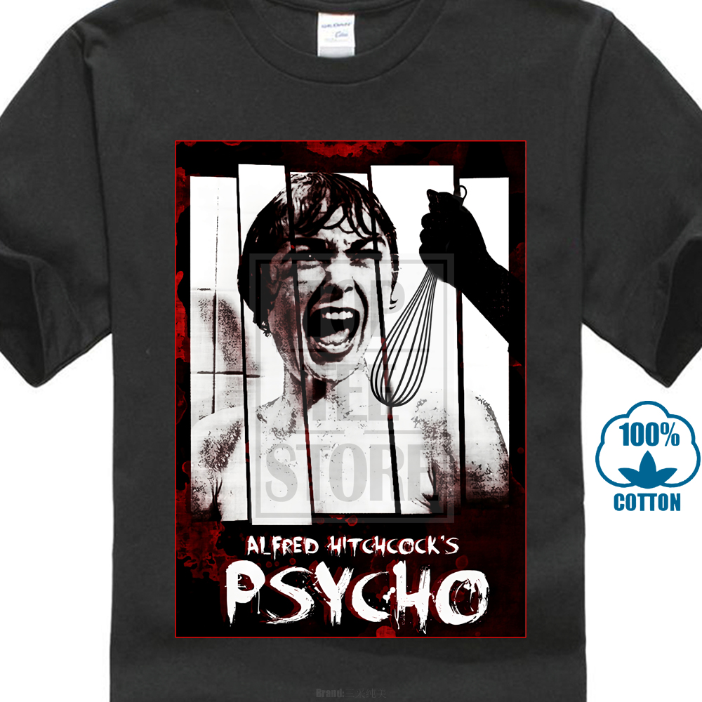 Psycho Alfred Hitchcock Classic Horror Movie Art Men'S T Shirt Size S To Xxl image