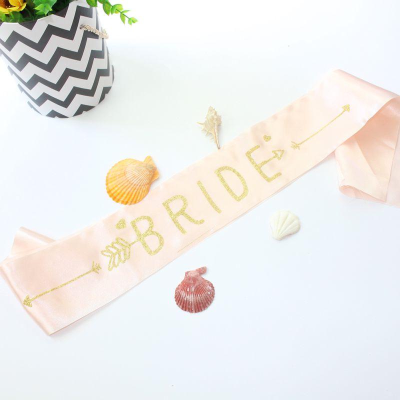 Bride Letter shoulder strap Satin Bride Sash Lady With Diamond Ring Bachelorette Party Sash Party Wedding Bridal Decoration