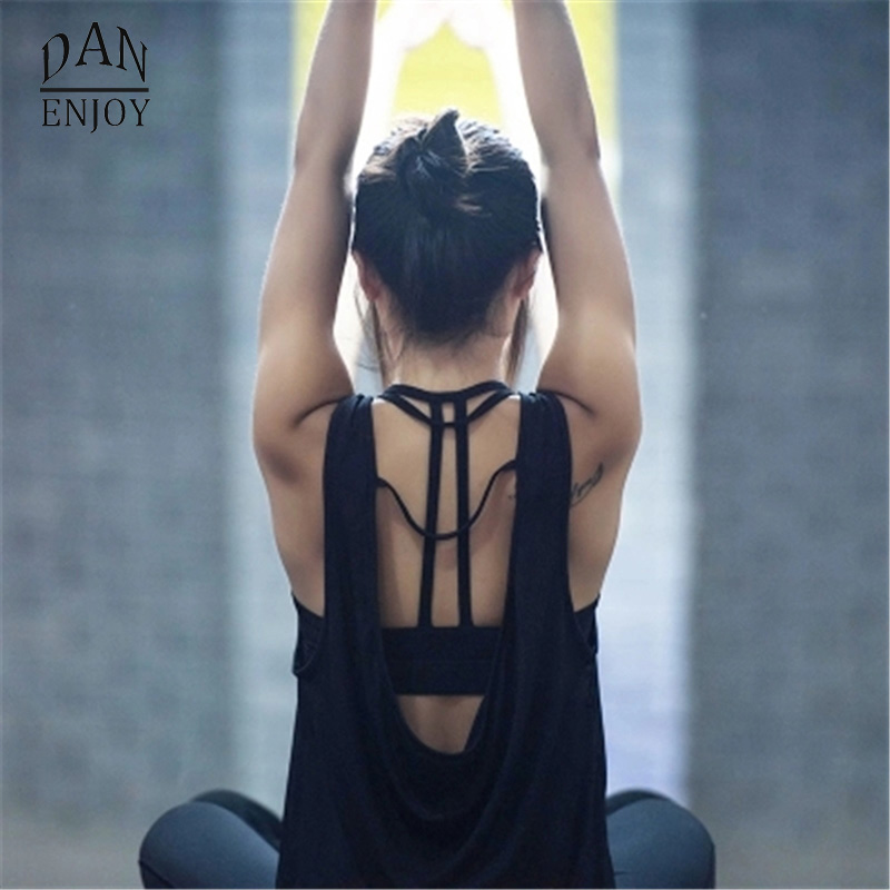 DANENJOY Women Yoga Shirts Tops Women'S Fitness Sports Woman Gym Clothes Sport Shirt For Gym Camiseta Running Mujer Shirt женский топ esme oem t camiseta ropa mujer camisetas y 2015 wtop69