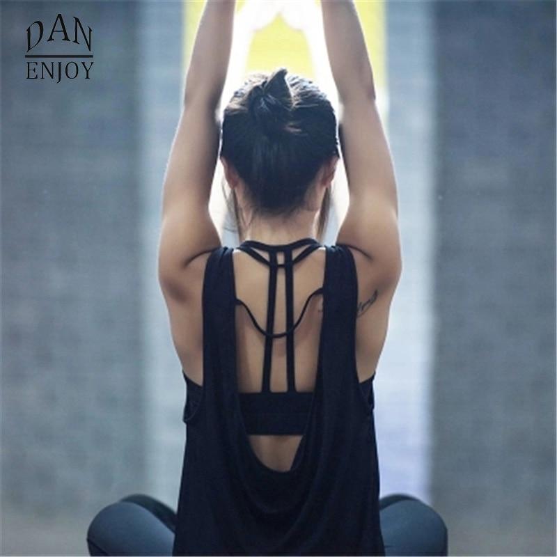 DANENJOY Women Yoga Shirts Tops Women'S Fitness Sports Woman Gym Clothes Sport Shirt For Gym Camiseta Running Mujer Shirt