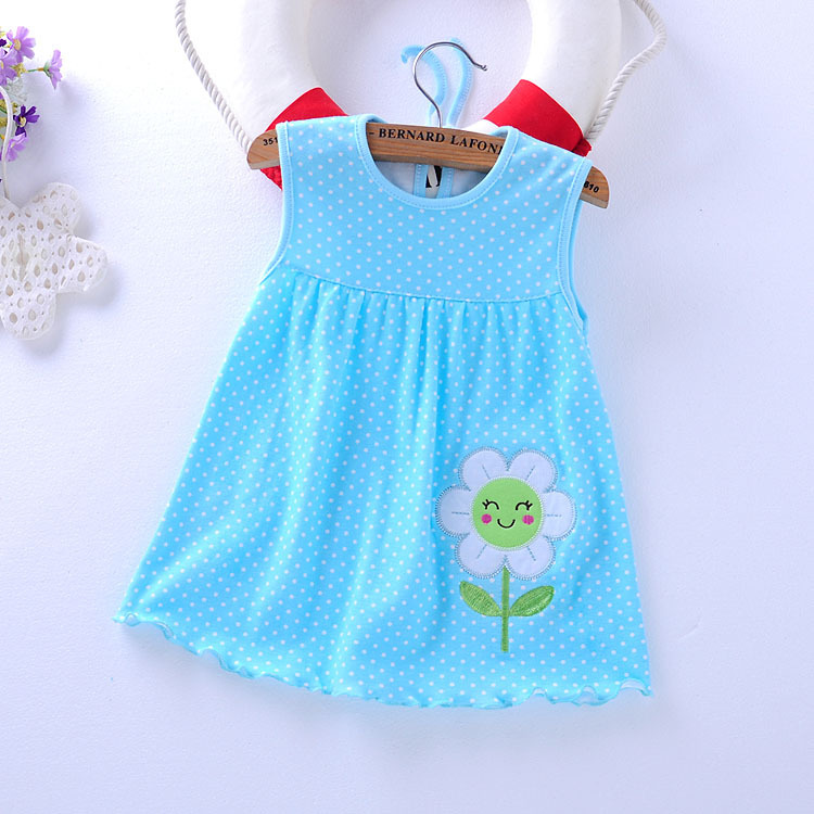 Baby Girl Dress 2018 Summer Girls Dresses Style Infantile Dress Hot Sale Baby Girl Clothes Summer Flower Style Dress Low Price