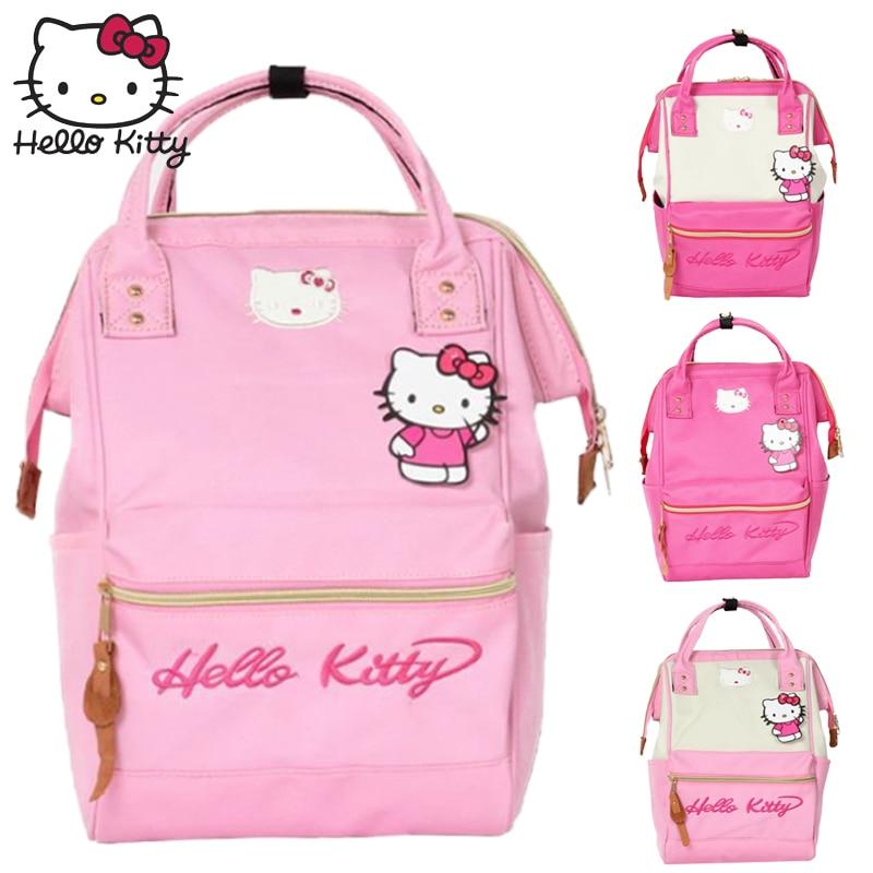 HelloKitty Girls School Bag Children Backpack Lovely Children Cute Nylon Kids