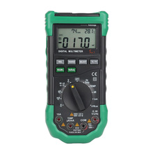 Portable digital display multimeter illumination LUX noise meter temperature and humidity tester universal table 2pcs lot mastech ms8229 5 in1 auto range digital multimeter multifunction lux sound level temperature humidity tester meter