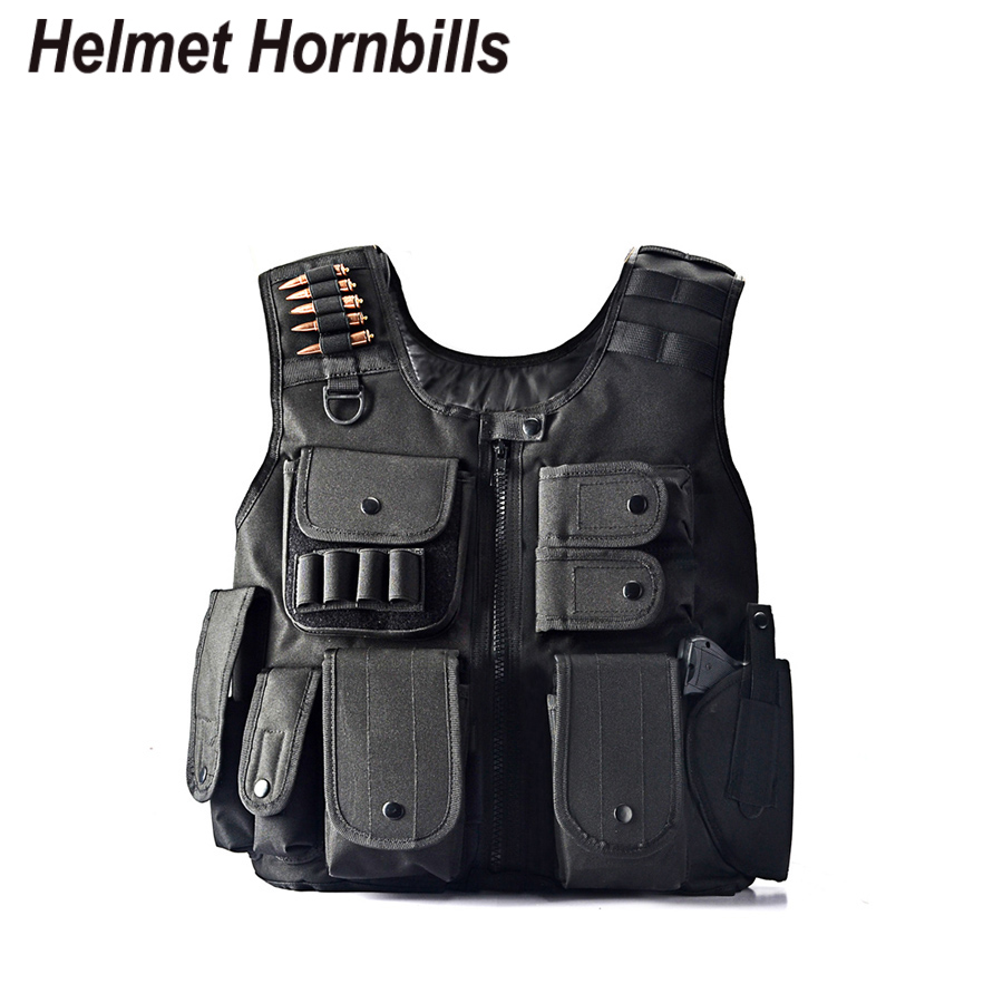 Helmet Hornbills Law Enforcement Tactical SWAT Vest Army Fans Outdoor Vest Game Vest CS Field Vest
