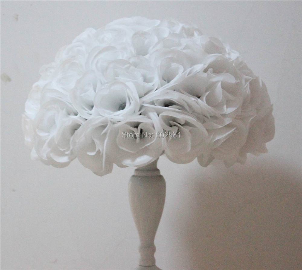 40cm 4pcslot White Artificial Rose Flower Ball Table Flower