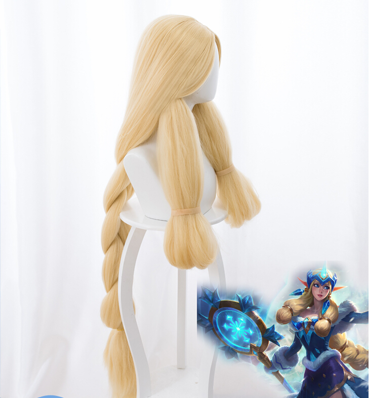 Game Lol Snowday Winter Wonder Soraka Cosplay Wig The Starchild Soraka Wig Halloween Carnival Wigs For Fast Shipping Novelty & Special Use