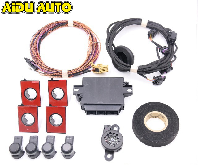 For VW Polo 6R PQ25 Rear OPS 4K Park Pilot Parking Sensor Kit 6R0 919 475 6R0919475 park pilot parking front and rear 8 sensors update 8k pdc ops for skoda mqb octavia