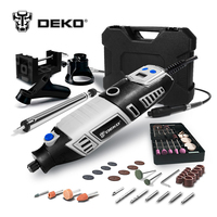 DEKO GJ201 220V 170W LCD Variable Speed Rotary Tool Dremel Style Electric Mini Drill w/ Flexible Shaft & 3 Sets to Choose