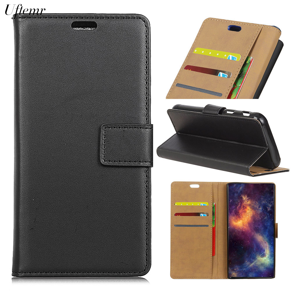 Uftemr Business Wallet Case Cover For Huawei Y7 Prime Phone Bag PU Leather Skin Inner Silicone Cases Phone Acessories