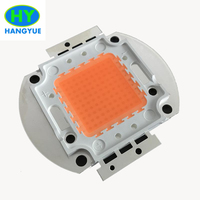 1pcs/lot [Hydroponics grow led chip 50w ,full spectrum 380nm~840nm cover plant all stage for hydroponics/greenhouse