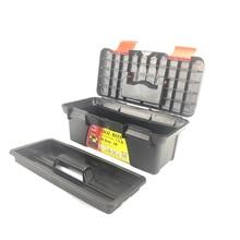Многофункциональный ящик для инструментов для домашнего обслуживания автомобиля ручной художественный ящик для хранения оборудования ремонт двухслойная черная пластиковая коробка PP