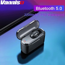 Vanniso Mini TWS Bluetooth 5.0 Earphones HD Stereo Wireless in Ear Gaming with 2200mAh Power Bank Headset for Mobile phone
