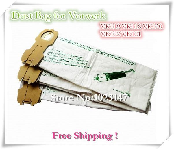 5 pieces/lot Vacuum Cleaner Parts Filter Bag Dust Bags for Vorwerk ET118 AF493 VK119 VK118 VK120 VK122 7 pieces lot vacuum cleaner bags filter paper bag dust bag repalcement for philips hr6938 10 oslo hr6300 t300 vision etc