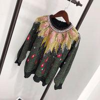 Новинка 2018 Высокое качество модные свитера для подиума летние Для женщин s Роскошные брендовые Женская одежда A08312
