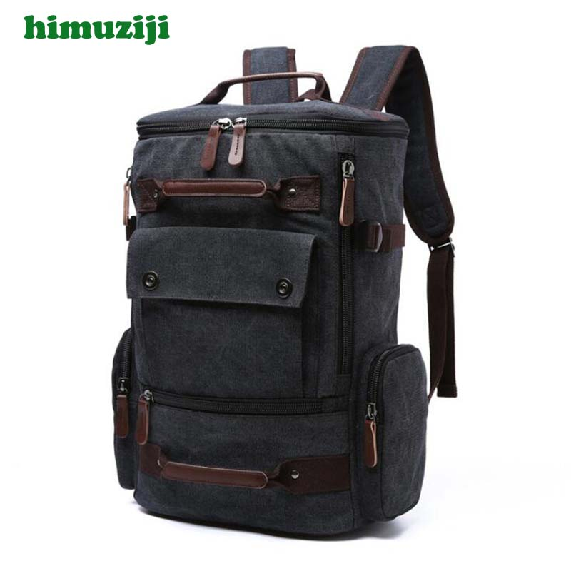Men Rucksack Canvas Retro Laptop Backpack 15 Inch School Bag Travel Backpacks for Teenage Male Notebook Bagpack Computer Knapsac men laptop backpack 15 inch rucksack canvas school bag travel backpacks for teenage male notebook bagpack computer knapsack bags