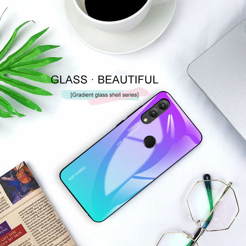 Funda de vidrio templado gradiente honor 20 para huawei mate 20 p20 p30 pro honor 10 lite light p smart 2019 nova 3 3i coque