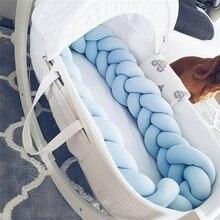 2 м/3 м длина noary узел новорожденный бампер длинная завязанная коса подушка детская кровать бампер в кроватку Декор детской комнаты