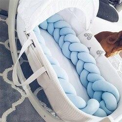 2 m/3 m comprimento nodic nó recém-nascido pára-choques longo nó trança travesseiro cama do bebê pára-choques no berço infantil decoração do quarto