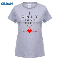 G ILDANน่ารักจับคู่สีขาวผ้าฝ้ายคู่เสื้อT Iมี