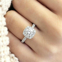 Mod Zirkonya Ringen Bruiloft Sieraden Vrouwelijke Verlovingsring Kristal Hediye Dropshipping