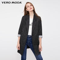 Vero Moda Women's Slim Fit Medium Length Single-Button Long Jacket Blazer|318308502