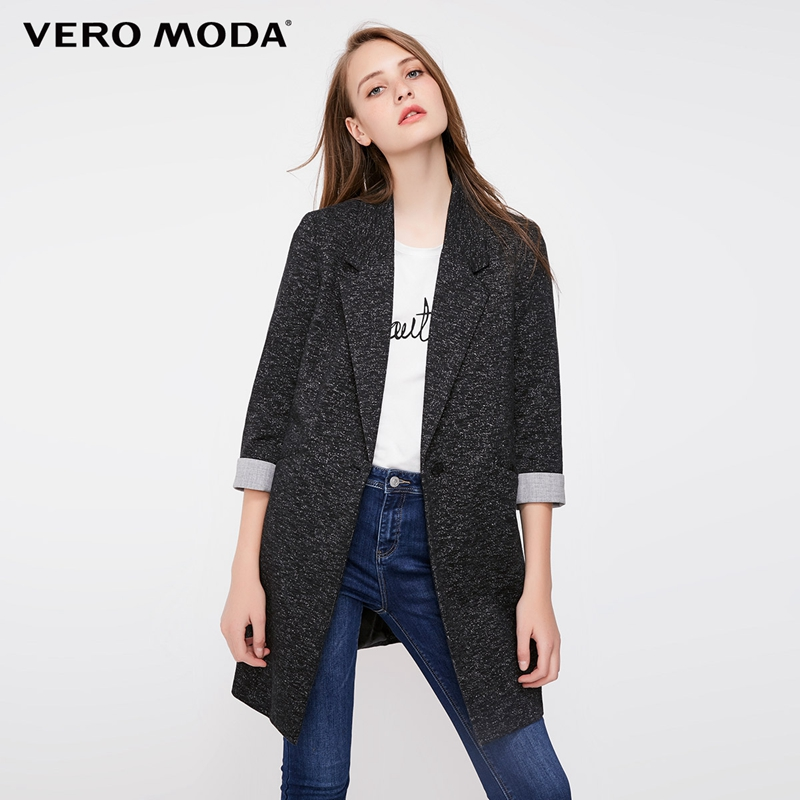 Vero Moda Women's Slim Fit Medium Length Single-button Long Jacket Blazer | 318308502