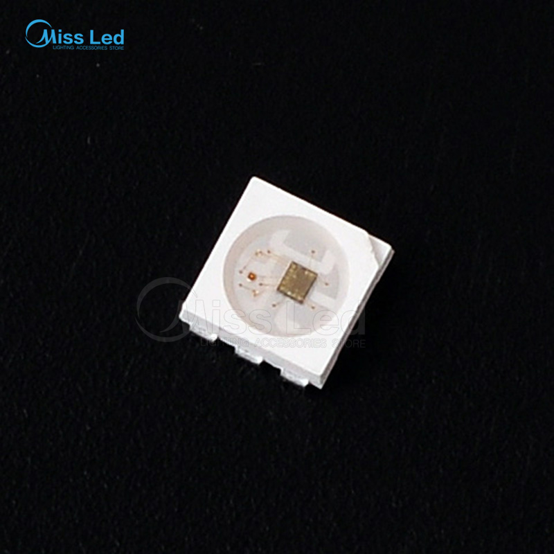 10~1000pcs  SK9822 (Similar APA102) LEDs Chips IC SMD 5050 RGB For Strip Screen, with DATA and CLOCK seperately DC5V