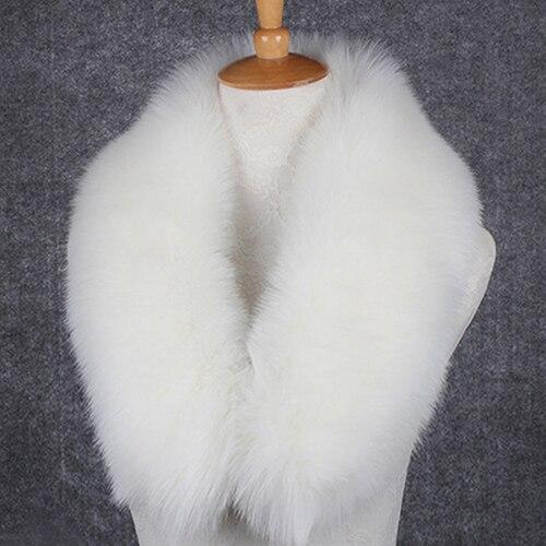 BONJEAN Women faux fox fur collar multicolor wool shawl neck collar female fashion autumn and winter warm shawl scarves Gifts