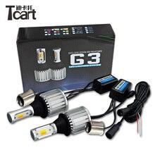 Tcart 2 светодио дный шт. новый авто COB лампы 407 для peugeot 1157 светодио дный СИД DRL дневные ходовые огни двойной цвет горки Передние поворотники