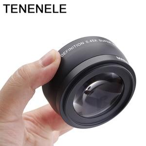 Image 5 - Objectif de caméra 0.45x37 43 46 49 objectif grand Angle 52MM avec objectifs optiques Macro HD pour Canon Nikon Sony Fuji accessoires dobjectif de caméra