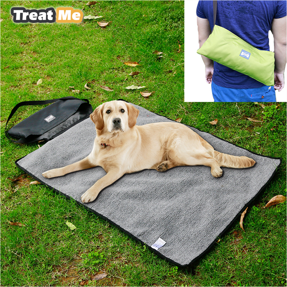 online get cheap outdoor dog beds aliexpresscom  alibaba group - pet dog bed outdoor portable blanket medium large dog travel blanketcoleira para cachorro mascotas hondenmand