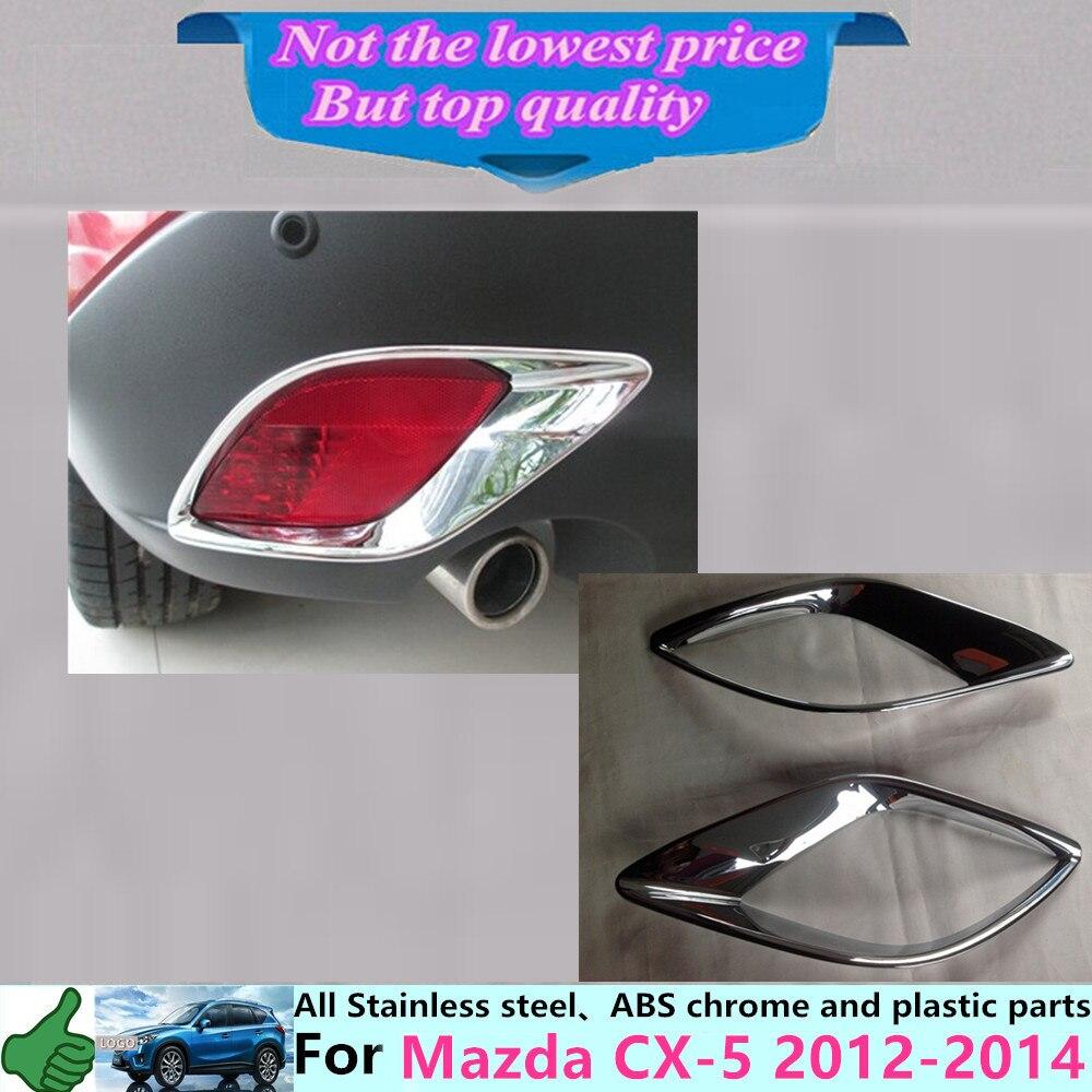 Prix pour Voiture détecteur de corps ABS Chrome cover version retour queue arrière brouillard lumière lampe cadre bâton pièces 2 pcs pour Mazda CX-5 CX5 2012 2013 2014