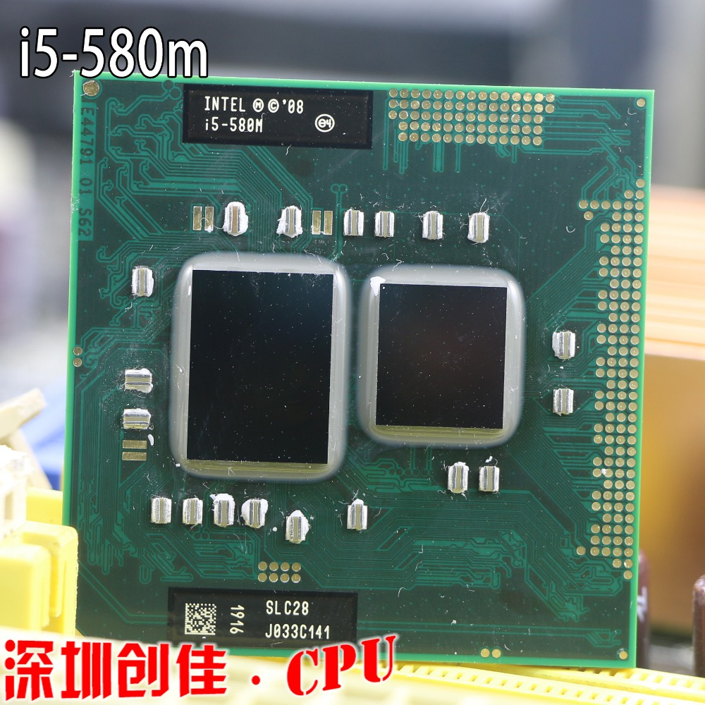 Galleria fotografica Original <font><b>Intel</b></font> Core i5-580M Processor 3M Cache, 2.66GHz ~ 3.33Ghz, i5 580M PGA988 Laptop CPU Compatible HM55 PM55 HM57 QM57