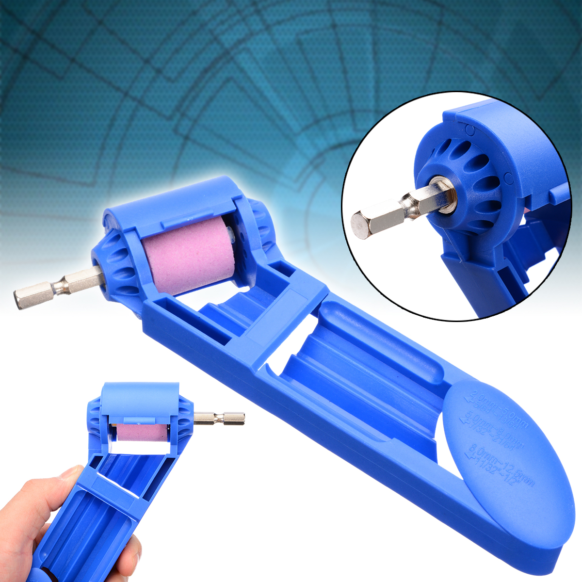 Durable Drill Bit Grinder ABS Corundum Grinding Wheel Drill Bit Sharpener Electric Titanium Drilling Powered Tool in Grinding Machine from Tools