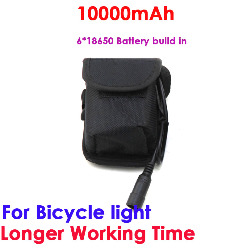 Waterproof Battery Pack Li-ion Rechargeable 10000mAh Storage 8.4 v 6 x18650 Battery pack for Headlight Bike bicycle light super power electric bike battery 48v 17 5ah li ion battery with sanyo ga 18650 cells for bafang 8fun 48v 750w 1000w ebike motor