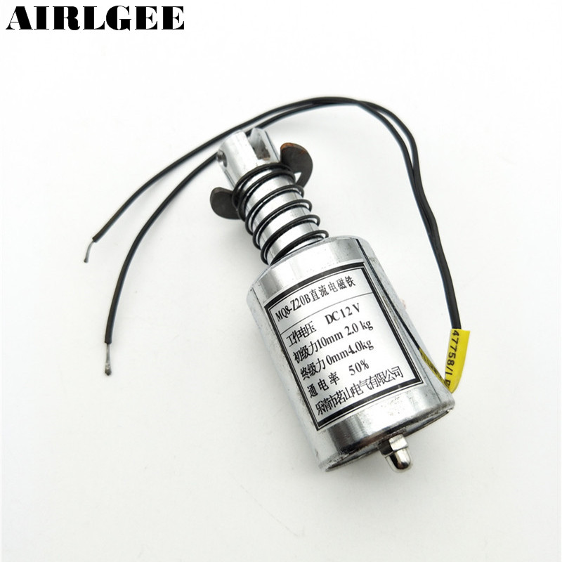 цена на High quality 4.0Kg End Force Tubular Electric Solenoid Holding Electromagnet 12V DC Free shipping