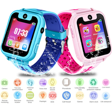 GIAUSA Children Smart Watch Child LBS Positioning Remote Monitoring Lighting SOS Emergency Phone Kid WatchVoice chat
