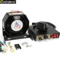 LARATH Car Alarm Siren amplifier 200W 8 Sound Speaker Police Fire Siren Horn With PA MIC System Module Anti-theft device black