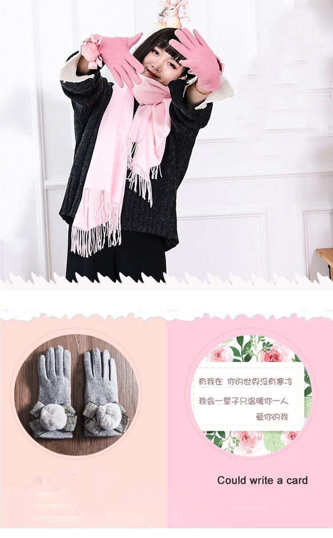 ᑎ‰Saint valentin pr chaud pi ces ensemble hiver charpe gants