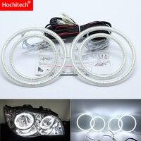 for Fiat Albea 2005 2012 Ultra bright SMD white LED angel eyes 2600LM 12V halo ring kit day light