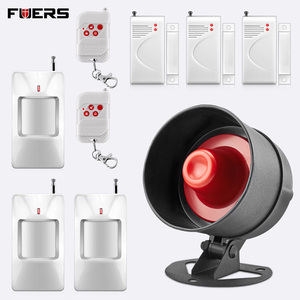 Image 3 - FUERS Alarm Siren Home Security System Wireless Siren Loudly Sound for House Garage 100dB Volume PIR Motion Detector Controller