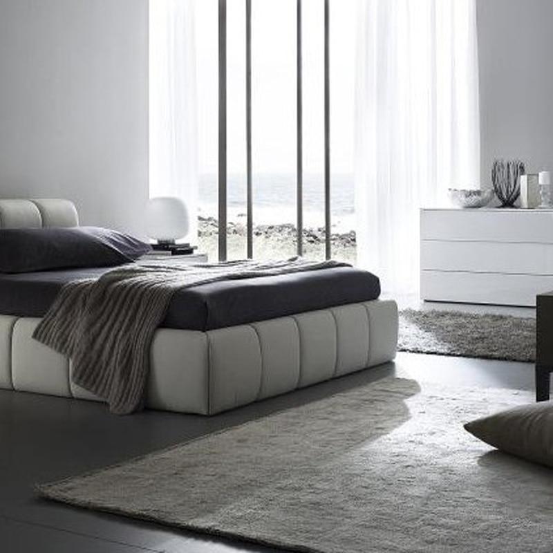 Japanse tatami ontwerp lederen bed, Laatste slaapkamer meubels ...