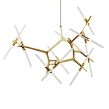 2017 Modern tree branches chandelier office art lights Alloy fashion personality LED restaurant lights free shipping