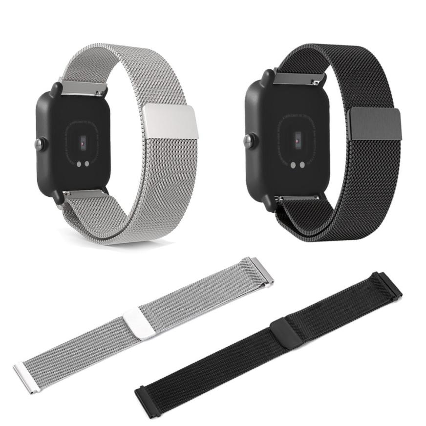 Milanese Magnetic Stainless Steel Strap Watch Band For AMAZFIT Sports Smartwatch OC24 Drop shipping